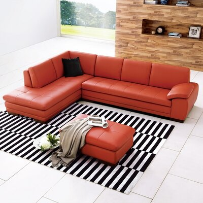 J&M Furniture Miami Leather Sectional