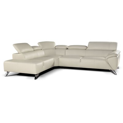 J&M Furniture Tesla Leather Sectional