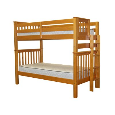Bedz King Mission Twin Bunk Bed