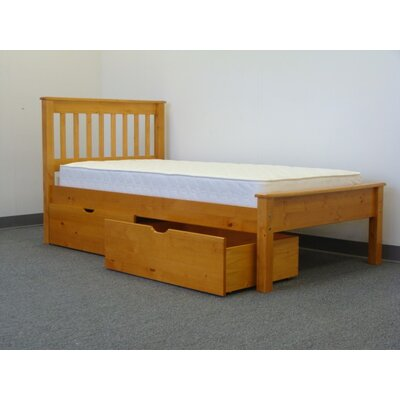 Bedz King Mission Twin Slat Bed with Storage