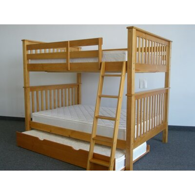 Bedz King Mission Full over Full Bunk Bed with T..