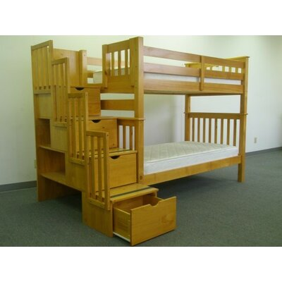 Bedz King Twin over Twin Bunk Bed with Storage