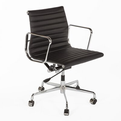 Stilnovo Mid-Back Leather Task Chair