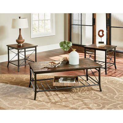 Loon Peak Hodgdon 3 Piece Coffee Table Set