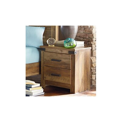 Loon Peak Piegan 2 Drawer Nightstand