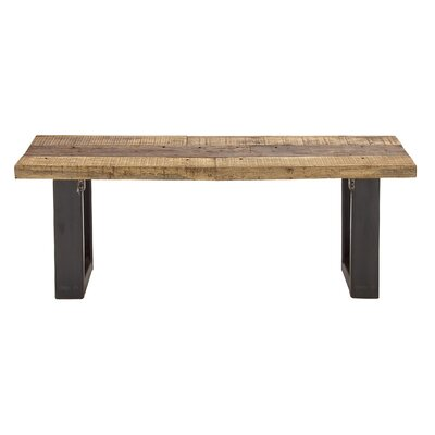 Cole & Grey Wood and Metal Kitchen Bench