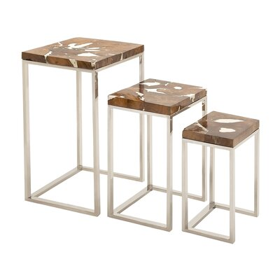 Cole & Grey 3 Piece Nesting Tables Set