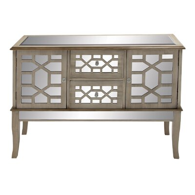Cole & Grey Wood Mirror Buffet
