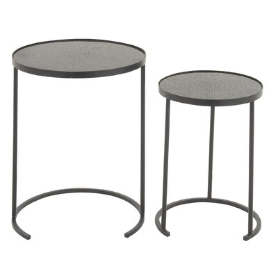 Cole & Grey 2 Piece Mosaic Nesting Table ..