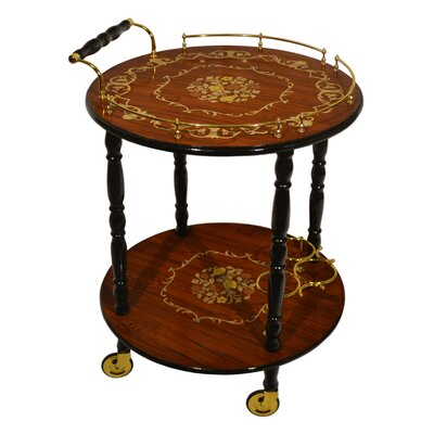 Three Star Im/Ex Inc. Round Tea Serving Cart