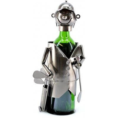 Three Star Im/Ex Inc. Golfer with Bag 1 Bottle Tabletop Wine Rack