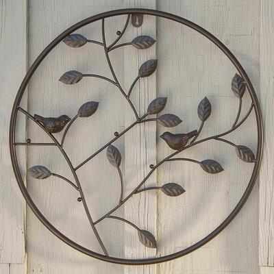 Circle Wall Decor plow & hearth birds and branches circle wall decor & reviews | wayfair