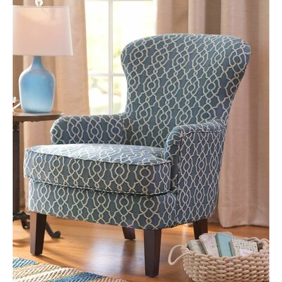 Plow & Hearth Upholstered Wingback Armchair
