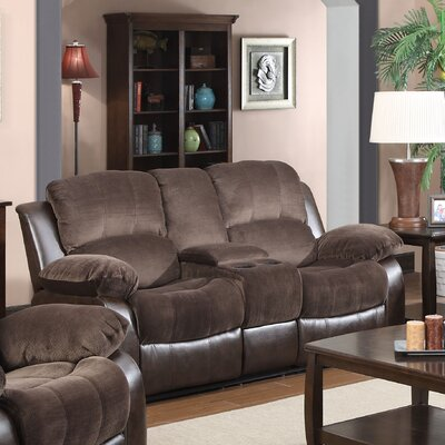 Glory Furniture COCO Double Reclining Loveseat with Console