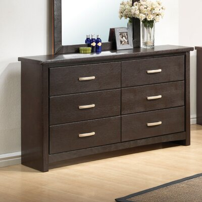 Glory Furniture Hillary 6 Drawer Dresser