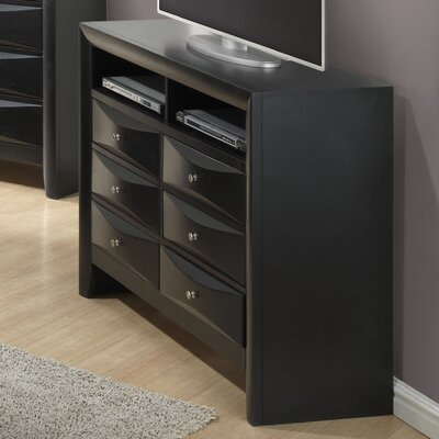Glory Furniture Gemini 6 Drawer Media Chest