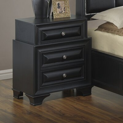 Darby Home Co Edwardsville 3 Drawer Nightstand