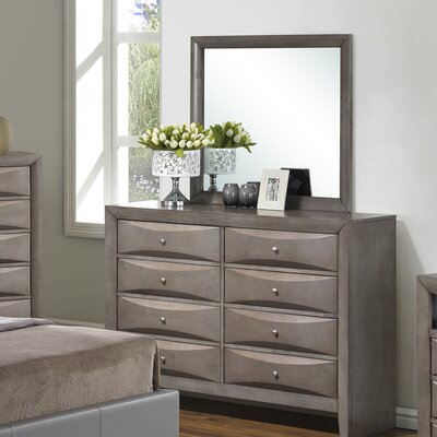 Glory Furniture 8 Drawer Dresser with Mirror