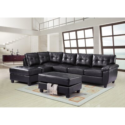 Glory Furniture Moran Reversible Chaise Sectional