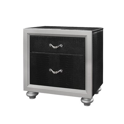 Glory Furniture Leon 2 Drawer Nightstand