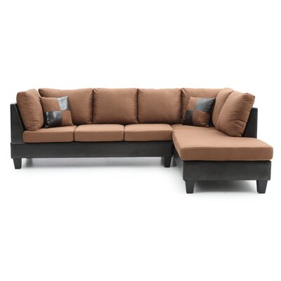 Glory Furniture Leo Reversible Chaise Sectional