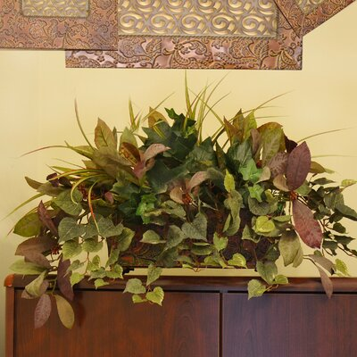 Floral Home Decor Mixed Silk Greenery Ledge Plant In Decorative Container Reviews Wayfair