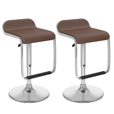 dCOR design Adjustable Height Swivel Bar Stool (..
