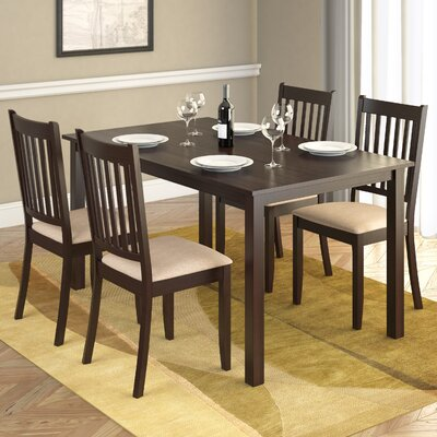 Latitude Run Casual Dining Table in Rich Cappuccino