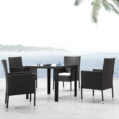Breakwater Bay Wentworth Outdoor Square Dining Table in Dark Brown