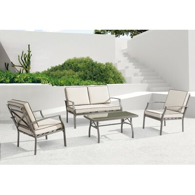 Mercury Row Archuleta Arm Chair with Cushions