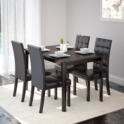 Latitude Run Cesar 5 Piece Dining Set