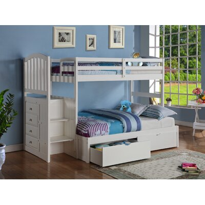 dCOR design Donco Kids Twin over Full Bunk Bed w..