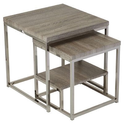Mercury Row Philippos 2 Piece Nesting Table Set