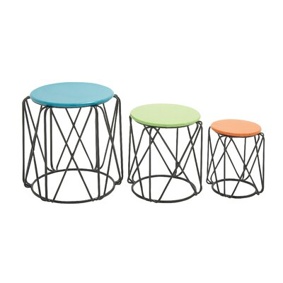 Mercury Row Loni 3 Piece Nesting Table
