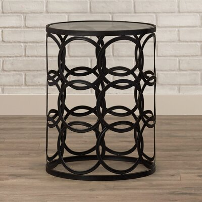 Mercury Row Arkadios End Table with Removable Glass Top