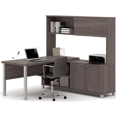 Mercury Row Ariana 3-Piece L-Shape Desk Office Suite