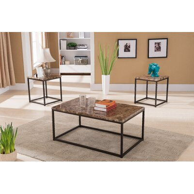 Mercury Row Abraham 3 Piece Coffee Table Set