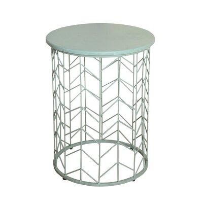 Mercury Row Arent Geometric Metal End Table