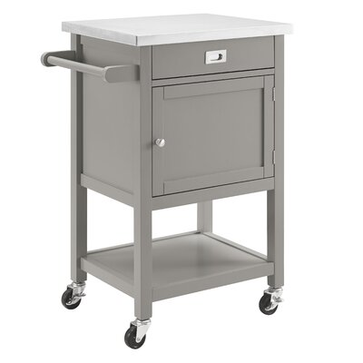 Mercury Row Aubuchon Kitchen Cart with Stainless Steel Top