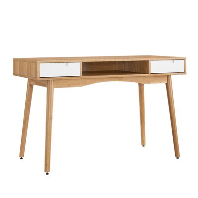 Mercury Row Boehmer Writing Desk with 2 Drawers