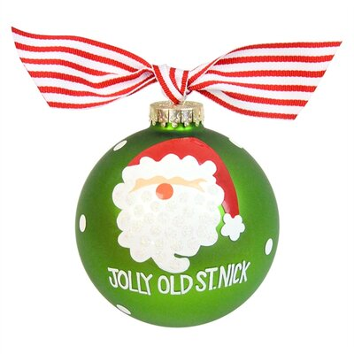 Jolly Old St. Nick Glass Ornament