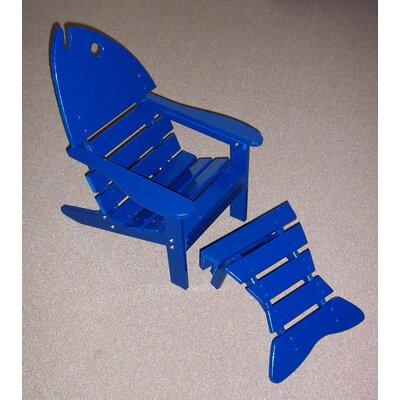 Prairie Leisure Design Junior Fish Chair And Ottoman Set