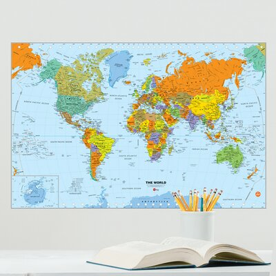Wallpops world erase map wall mural reviews wayfair 28 for Dry erase world map wall mural