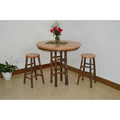 A&L Furniture Hickory 3 Piece Dining Set