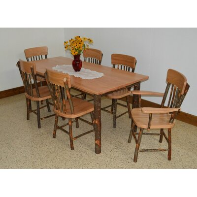 A&L Furniture Hickory 7 Piece Dining Set