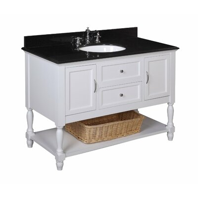 Kbc beverly 48 single bathroom vanity set reviews wayfair for Kitchen 17 delivery