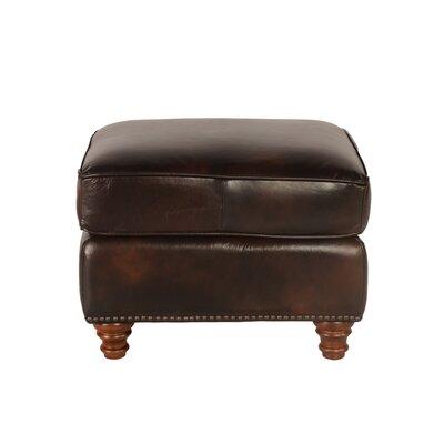 Lazzaro Leather Century Leather Ottoman