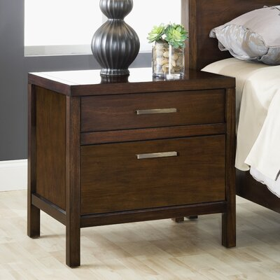 Red Barrel Studio De La Vega 2 Drawer Nightstand
