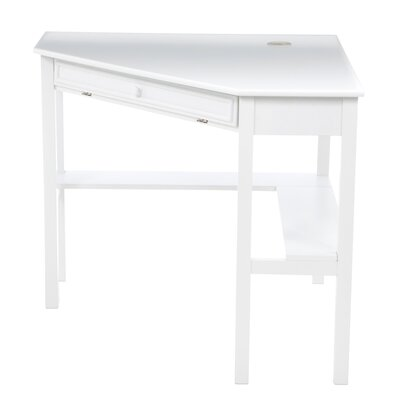 Red Barrel Studio Levin Computer Corner Desk in White