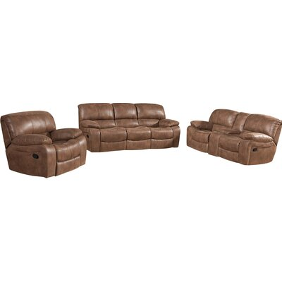 Red Barrel Studio Hattiesburg 3 Piece Rocking Reclining Living Room Set